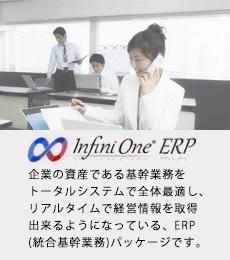 企業の資産である基幹業務をトータルシステムで全体最適し、リアルタイムで経営情報を取得出来るようになっている、ERP(統合基幹業務)パッケージです。